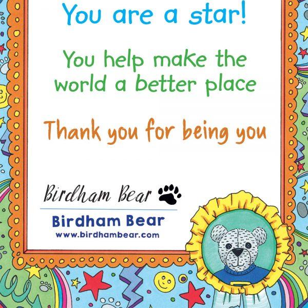 Birdham Bear Certificate